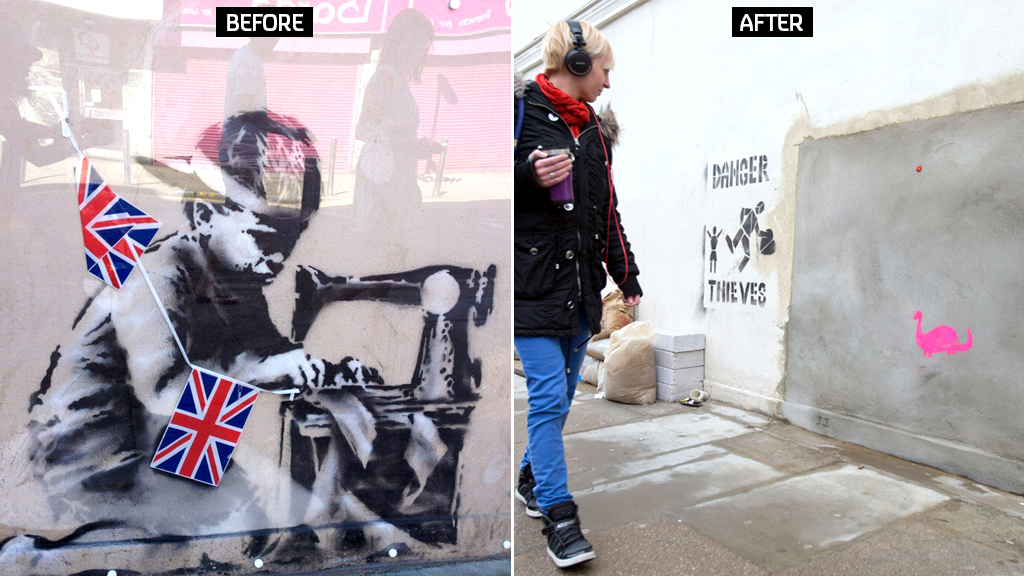 Londoners campaign to bring back banksy channel 4 news for Banksy mural sold