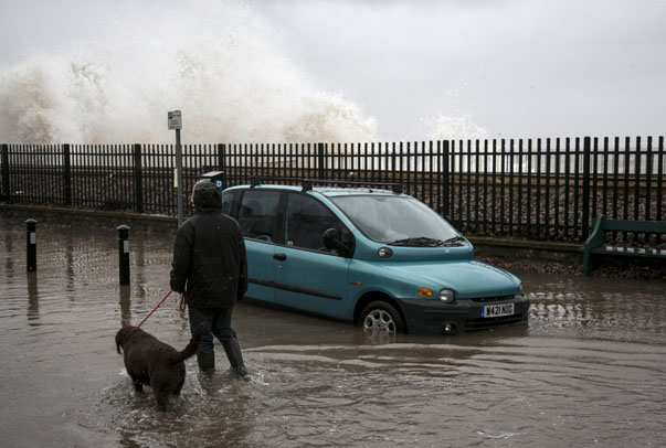 Storms Hit South West Of England