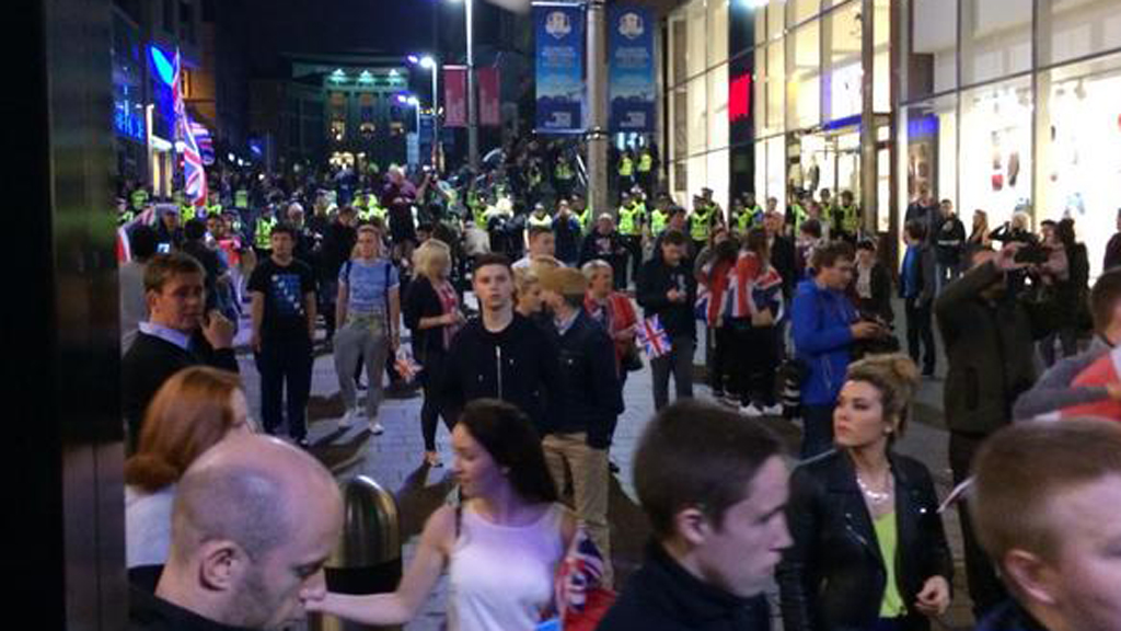 police separate yes and no rivals in glasgow  u2013 channel 4 news