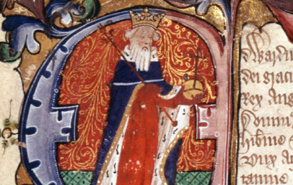 Edward III giving the Magna Carta, enlargement.