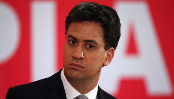 Ed Miliband Speaks In Bedford During The Final Days Of the Election Campaign
