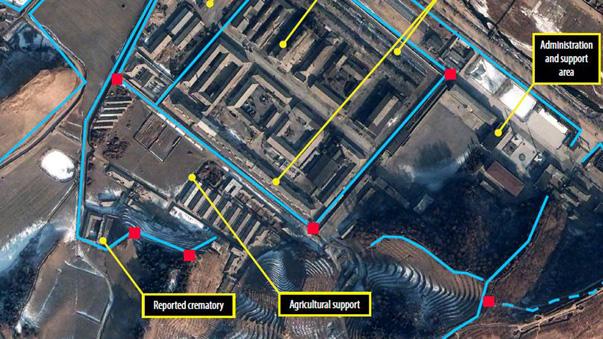 Satellite Image of Camp 25 in North Korea