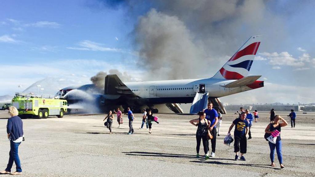 British Airways plane bursts into flames on Las Vegas runway – Channel 4 News