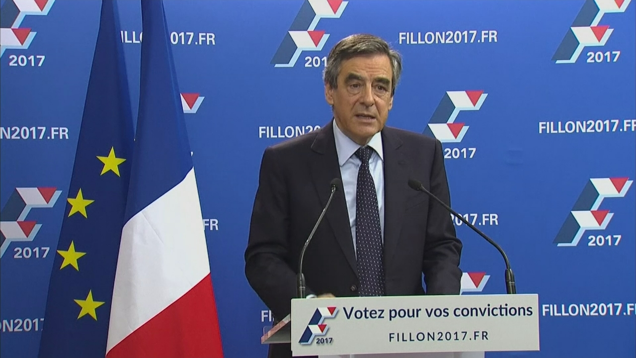 Former French prime minister Francois Fillon