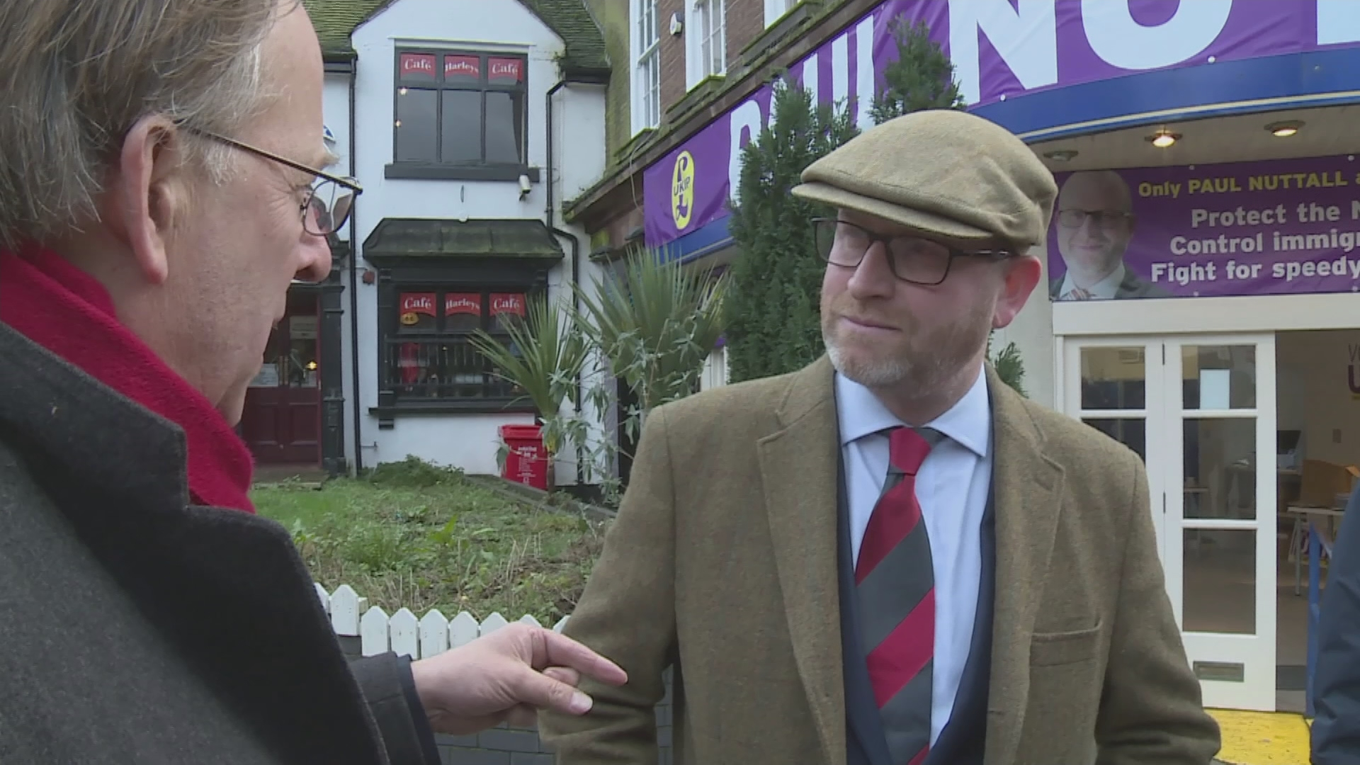 Michael Crick and Paul Nuttall