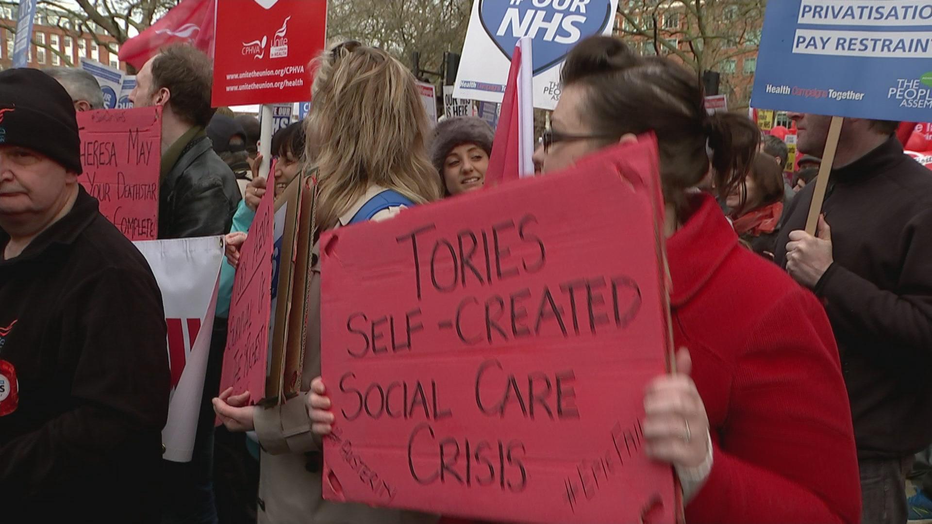 NHS marchers
