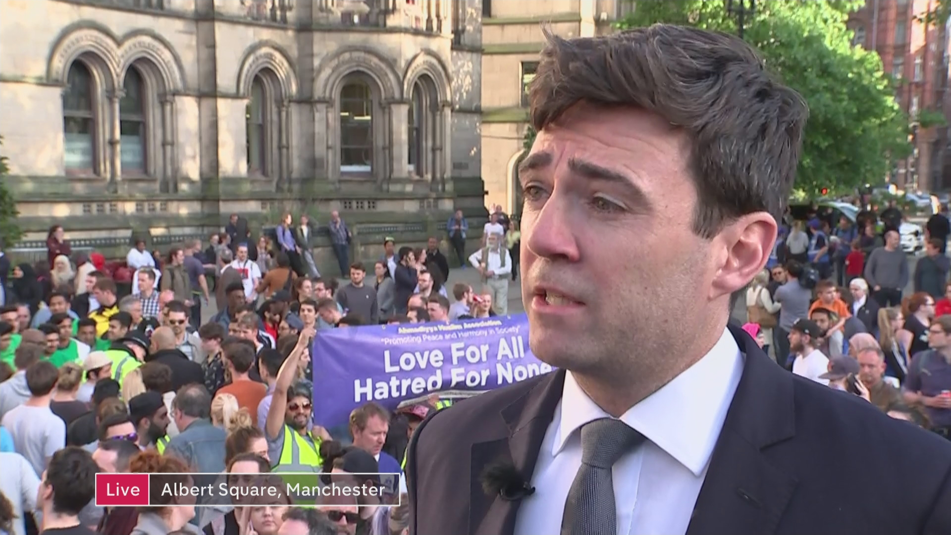 burnham muslim Andy burnham has issued a moving statement claiming terrorists will never beat us following the attack at manchester arena.