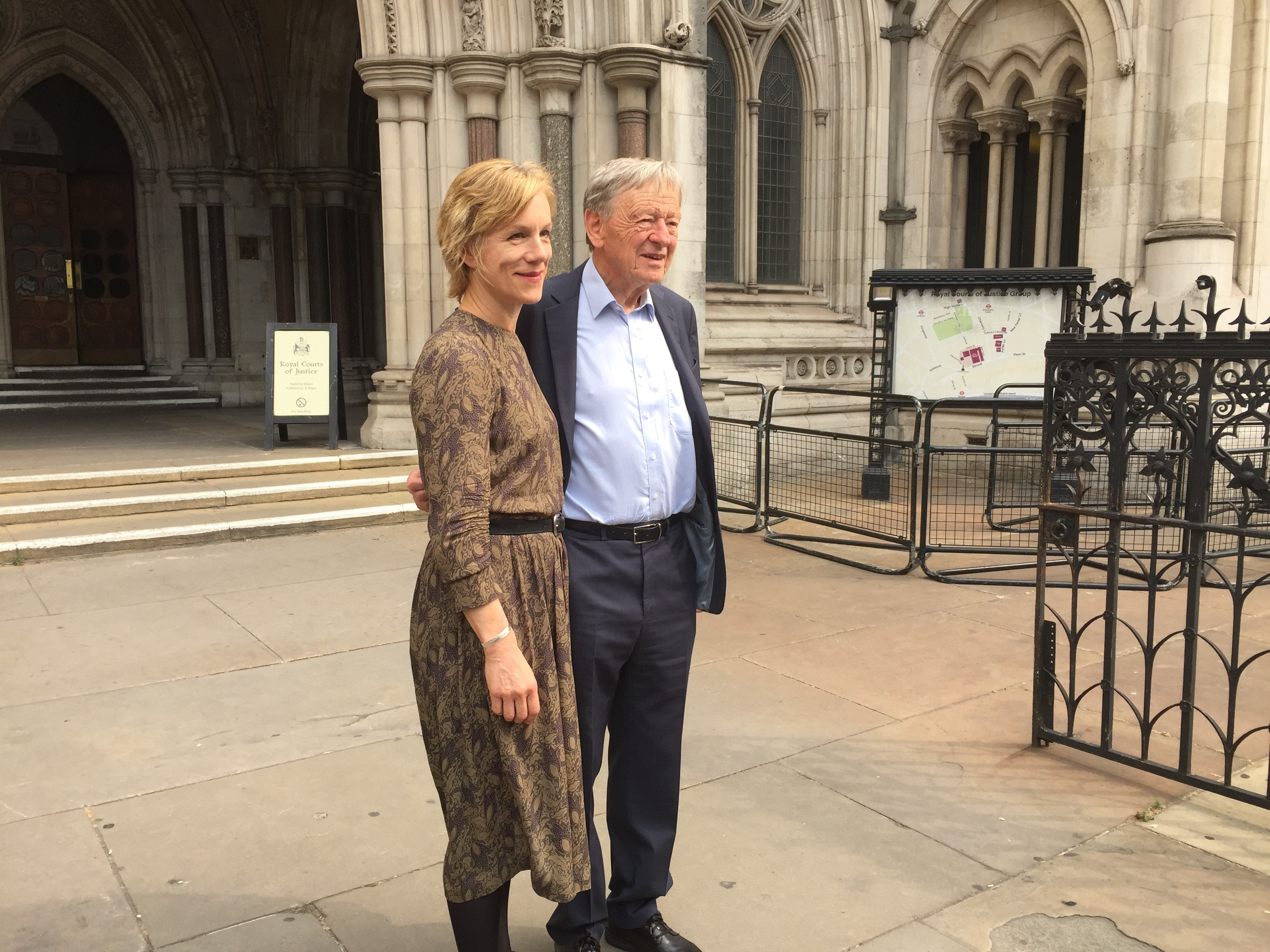 Lord Dubs and Juliet Stevenson who are campaigning for unaccompanied child refugees to enter the UK